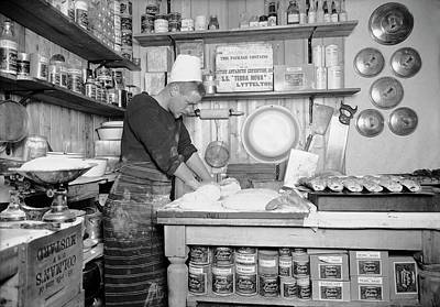 Rations Photograph - Food Preparation In Antarctica by Scott Polar Research Institute