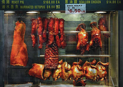 Food - Roast Meat For Sale Print by Mike Savad
