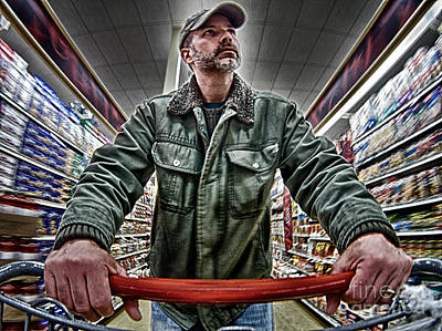 Self Portrait Photograph - Food Shopping by Mark Miller