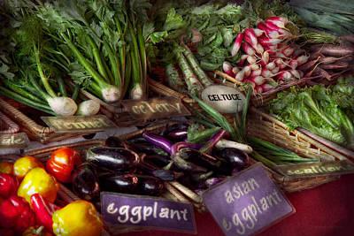 Food - Vegetables - Very Fresh Produce  Print by Mike Savad