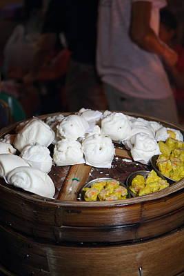 Street Photograph - Food Vendors - Night Street Market - Chiang Mai Thailand - 011310 by DC Photographer