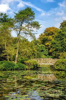 Lakes Digital Art - Foot Bridge Reflections by Adrian Evans