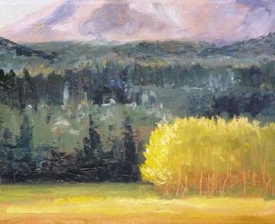 Foot Of The Mountain Print by Nancy Merkle