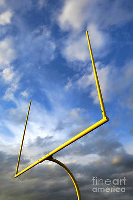 Football Goal Posts Print by Olivier Le Queinec