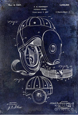 Football Helmet Patent Print by Jon Neidert