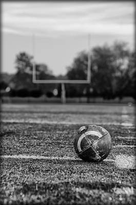 Football In Black And White Print by Bill Cannon