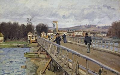 Footbridge Painting - Footbridge At Argenteuil by Alfred Sisley