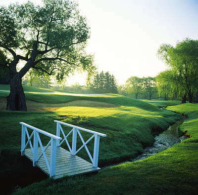Footbridge In A Golf Course, Inverness Print by Panoramic Images