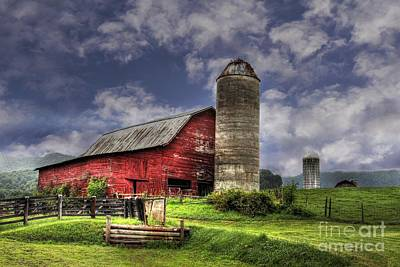 Foothills Farm Print by Benanne Stiens