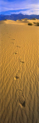 Footprints, Death Valley National Park Print by Panoramic Images