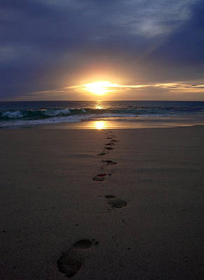 Footprints Photograph - Footprints by Kelly Jones