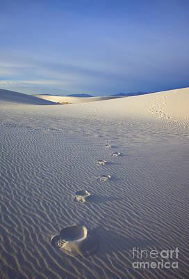Footprints Print by Mike  Dawson