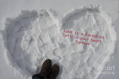 Be My Valentine Digital Art - Footprints by Nicole Markmann Nelson