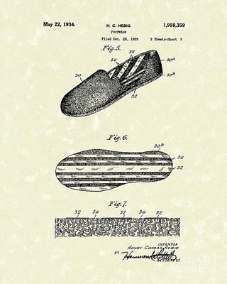 Footware 1934 Patent Art Print by Prior Art Design