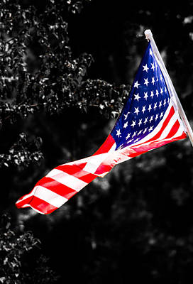 American Flag Photograph - With Liberty And Justice For All by Shelby  Young