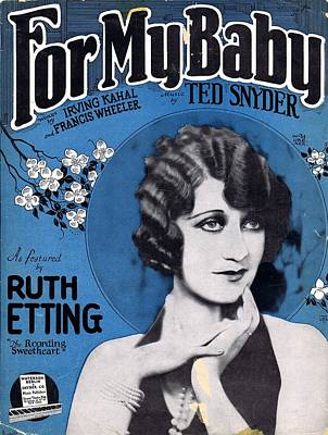 Ruth Etting Photograph - For My Baby by Mel Thompson