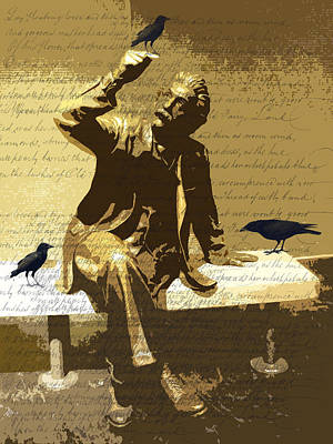 Statue Portrait Digital Art - For The Birds by Nancy Merkle