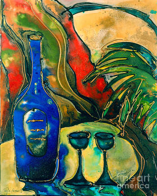 For Two- Wine Print by Twyla Gettert