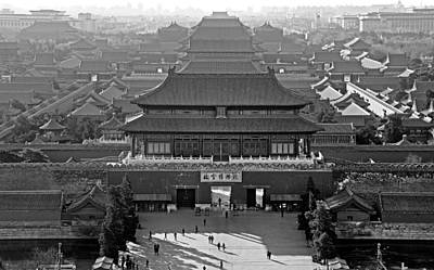 Forbidden City - Black And White - Beijing China Print by Brendan Reals
