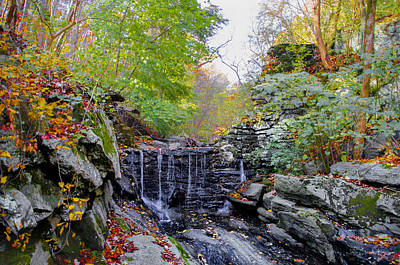 Forbidden Drive And Wises Mill Road Waterfall Print by Bill Cannon