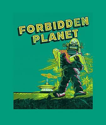 1950s Movies Digital Art - Forbidden Planet - Old Poster by Brand A