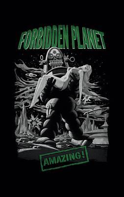 1950s Movies Digital Art - Forbidden Planet - Robot Poster by Brand A