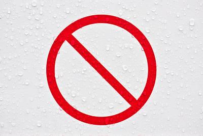 Condensation Photograph - Forbidden Sign by Tom Gowanlock
