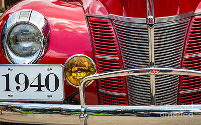 Headlight Photograph - Ford 01a Deluxe Coupe by Inge Johnsson