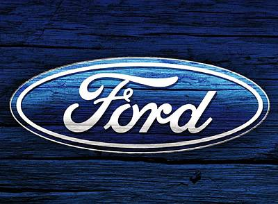 Ford Barn Door Print by Dan Sproul