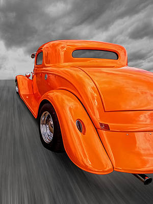 Ford Coupe Hot Rod 1934 Print by Gill Billington