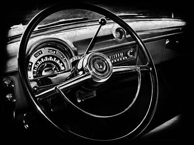 Car Photograph - Ford Crestline Interior by Mark Rogan