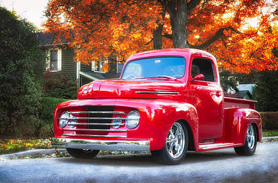 Custom Ford Photograph - Ford F-1  by Darek Szupina Photographer