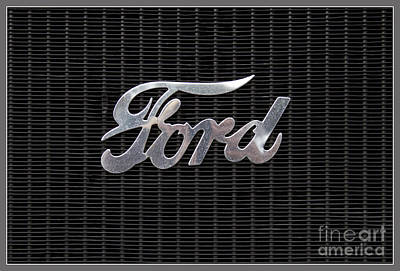 Ford Logo On Radiator Front Print by Heiko Koehrer-Wagner