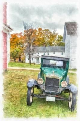 Frame House Photograph - Ford Model A Sedan by Edward Fielding
