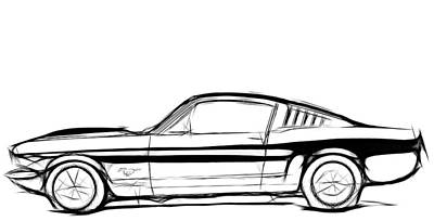 Ford Mustang Classic Print by Steve K