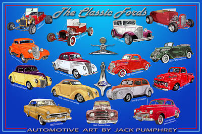 Ford Poster Print by Jack Pumphrey