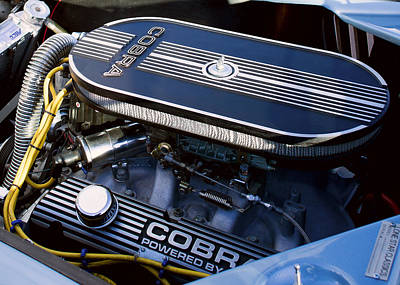 Shelby Cobra Photograph - Ford Shelby Cobra Engine by Rospotte Photography