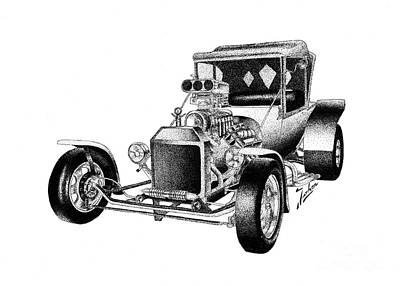 Ford T Hot Rod Print by Joker Gallery