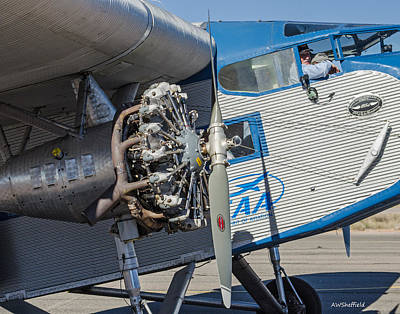 Ford Tri-motor - Business End Print by Allen Sheffield