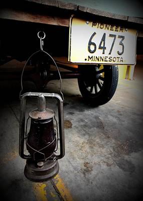 Ford Truck With Rear Dietz Kerosene Lantern Print by Amanda Stadther
