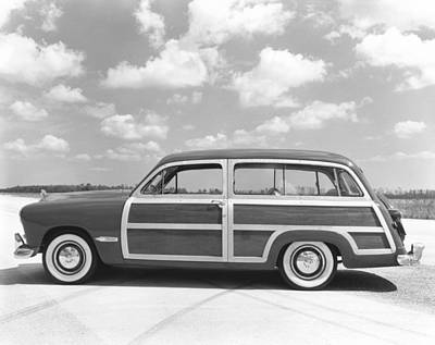 Ford Woody Station Wagon Print by Underwood Archives