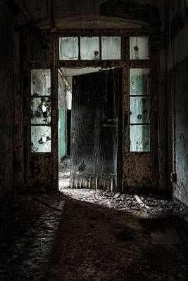 Creepy Photograph - Foreboding Doorway by Gary Heller