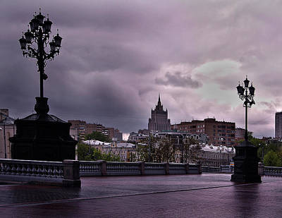 Moscow Skyline Photograph - Foreboding Moscow by Alan Emery