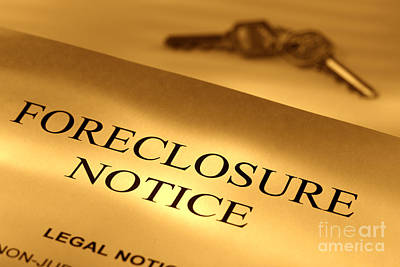 Foreclosure Notice Print by Olivier Le Queinec