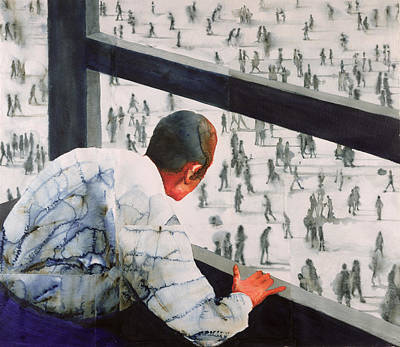 Looking Down Painting - Foreign Correspondent by Graham Dean