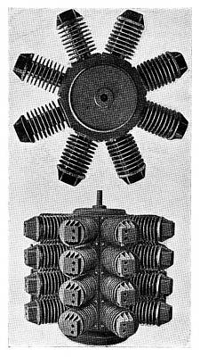 Forest 32-cylinder Aviation Engine Print by Science Photo Library