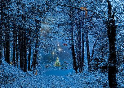 Fox Digital Art - Forest Animal Christmas by Michele  Avanti