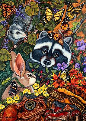 Forest Fantasy Print by Sherry Dole