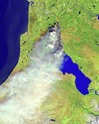 Wildfire Smoke Photograph - Forest Fire by Nasa Earth Observatory