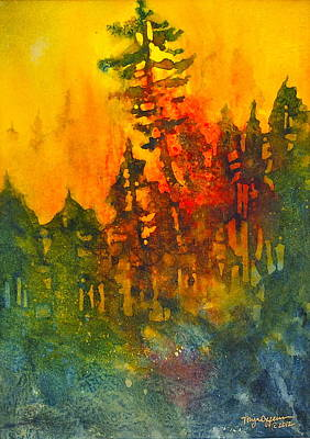 Wildfire Painting - Forest Glow #5 by Tonja Opperman